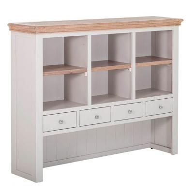 4 Drawer Hutch with 3 Shelves
