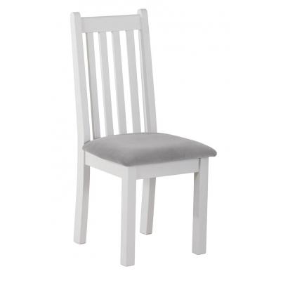 Vertical Slats Dining Chair with Plush Slate Fabric Seat